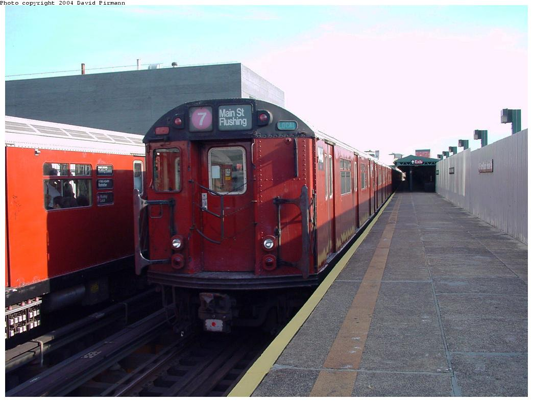 (104k, 1044x788)<br><b>Country:</b> United States<br><b>City:</b> New York<br><b>System:</b> New York City Transit<br><b>Line:</b> IRT Flushing Line<br><b>Location:</b> Court House Square/45th Road <br><b>Route:</b> 7<br><b>Car:</b> R-36 World's Fair (St. Louis, 1963-64) 9446 <br><b>Photo by:</b> David Pirmann<br><b>Date:</b> 7/16/2001<br><b>Viewed (this week/total):</b> 2 / 2343