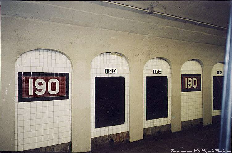 (60k, 751x496)<br><b>Country:</b> United States<br><b>City:</b> New York<br><b>System:</b> New York City Transit<br><b>Line:</b> IND 8th Avenue Line<br><b>Location:</b> 190th Street/Overlook Terrace <br><b>Route:</b> A<br><b>Photo by:</b> Wayne Whitehorne<br><b>Date:</b> 1998<br><b>Viewed (this week/total):</b> 0 / 2565