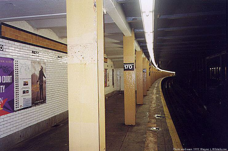 (65k, 741x492)<br><b>Country:</b> United States<br><b>City:</b> New York<br><b>System:</b> New York City Transit<br><b>Line:</b> IND Concourse Line<br><b>Location:</b> 170th Street <br><b>Photo by:</b> Wayne Whitehorne<br><b>Date:</b> 9/24/1999<br><b>Viewed (this week/total):</b> 3 / 3555