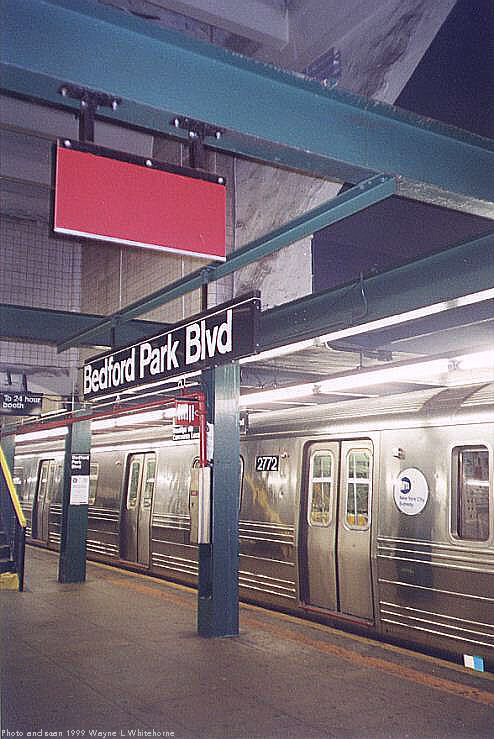 (76k, 494x739)<br><b>Country:</b> United States<br><b>City:</b> New York<br><b>System:</b> New York City Transit<br><b>Line:</b> IND Concourse Line<br><b>Location:</b> Bedford Park Boulevard <br><b>Photo by:</b> Wayne Whitehorne<br><b>Date:</b> 9/24/1999<br><b>Viewed (this week/total):</b> 2 / 2747