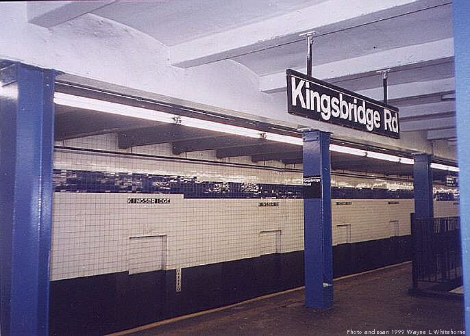 (64k, 686x491)<br><b>Country:</b> United States<br><b>City:</b> New York<br><b>System:</b> New York City Transit<br><b>Line:</b> IND Concourse Line<br><b>Location:</b> Kingsbridge Road <br><b>Photo by:</b> Wayne Whitehorne<br><b>Date:</b> 9/24/1999<br><b>Viewed (this week/total):</b> 2 / 3858