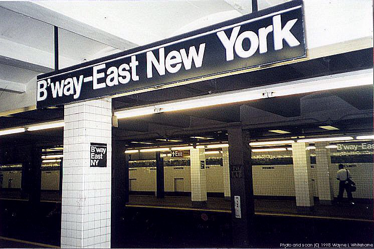 (96k, 746x497)<br><b>Country:</b> United States<br><b>City:</b> New York<br><b>System:</b> New York City Transit<br><b>Line:</b> IND Fulton Street Line<br><b>Location:</b> Broadway/East New York (Broadway Junction) <br><b>Photo by:</b> Wayne Whitehorne<br><b>Date:</b> 5/28/1998<br><b>Viewed (this week/total):</b> 1 / 3864
