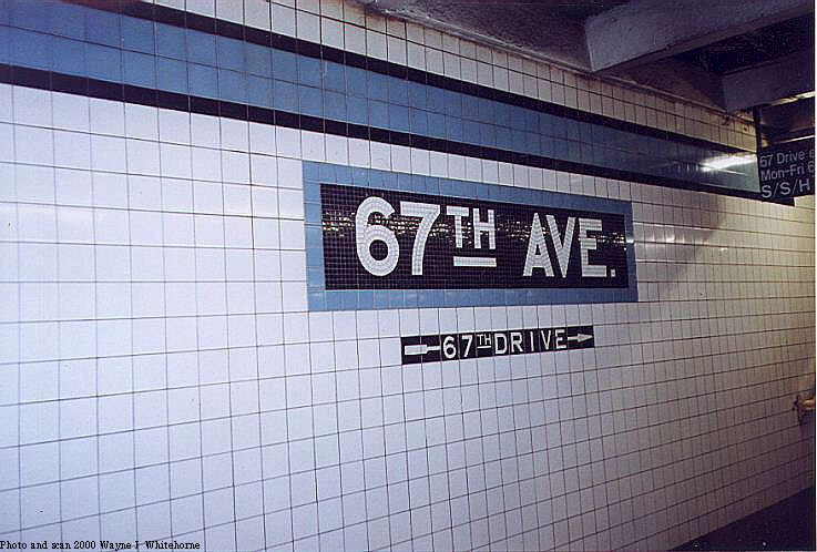 (76k, 737x498)<br><b>Country:</b> United States<br><b>City:</b> New York<br><b>System:</b> New York City Transit<br><b>Line:</b> IND Queens Boulevard Line<br><b>Location:</b> 67th Avenue <br><b>Photo by:</b> Wayne Whitehorne<br><b>Date:</b> 1/8/2000<br><b>Notes:</b> Tablet<br><b>Viewed (this week/total):</b> 2 / 2374