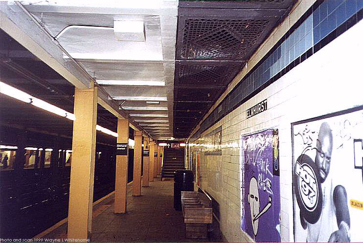 (82k, 742x497)<br><b>Country:</b> United States<br><b>City:</b> New York<br><b>System:</b> New York City Transit<br><b>Line:</b> IND Queens Boulevard Line<br><b>Location:</b> Elmhurst Avenue <br><b>Photo by:</b> Wayne Whitehorne<br><b>Date:</b> 12/11/1999<br><b>Viewed (this week/total):</b> 1 / 4380