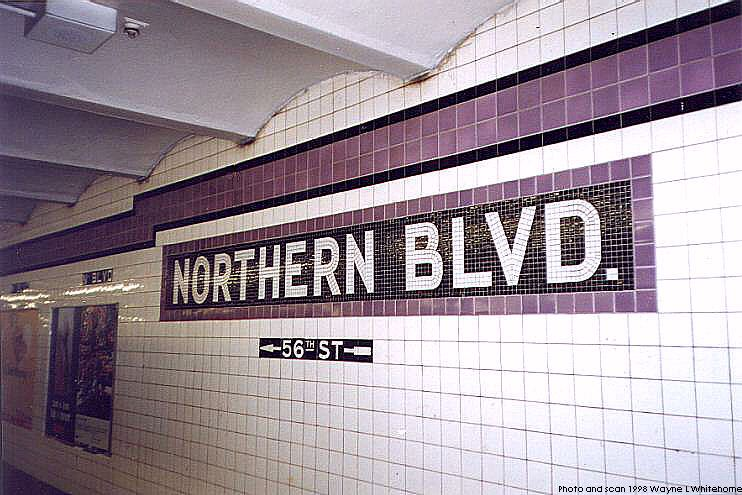 (82k, 742x495)<br><b>Country:</b> United States<br><b>City:</b> New York<br><b>System:</b> New York City Transit<br><b>Line:</b> IND Queens Boulevard Line<br><b>Location:</b> Northern Boulevard <br><b>Photo by:</b> Wayne Whitehorne<br><b>Date:</b> 9/30/1998<br><b>Notes:</b> Tablet<br><b>Viewed (this week/total):</b> 7 / 2578