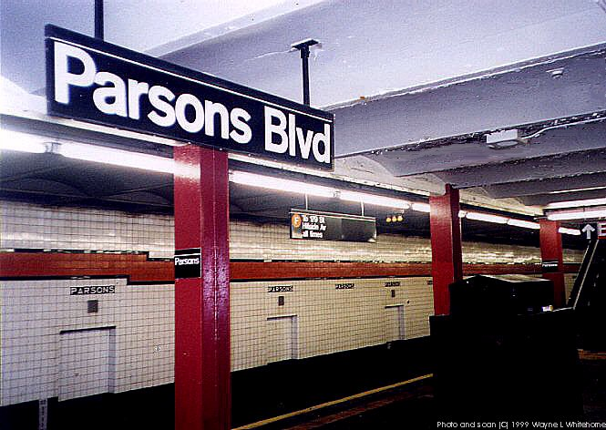 (82k, 665x472)<br><b>Country:</b> United States<br><b>City:</b> New York<br><b>System:</b> New York City Transit<br><b>Line:</b> IND Queens Boulevard Line<br><b>Location:</b> Parsons Boulevard <br><b>Photo by:</b> Wayne Whitehorne<br><b>Date:</b> 1/9/1999<br><b>Viewed (this week/total):</b> 0 / 3200