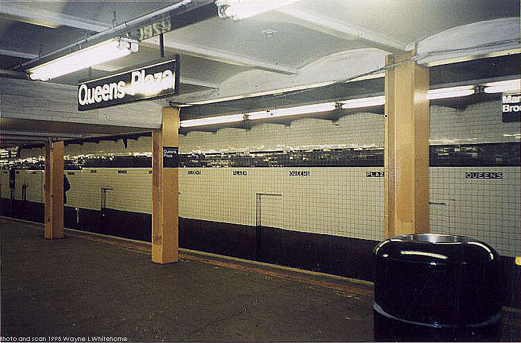 (77k, 751x494)<br><b>Country:</b> United States<br><b>City:</b> New York<br><b>System:</b> New York City Transit<br><b>Line:</b> IND Queens Boulevard Line<br><b>Location:</b> Queens Plaza <br><b>Photo by:</b> Wayne Whitehorne<br><b>Date:</b> 1/3/1998<br><b>Viewed (this week/total):</b> 1 / 2706