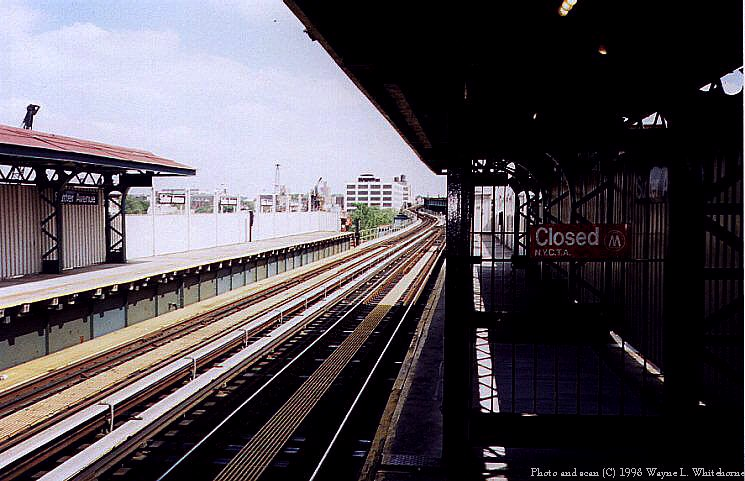 (88k, 745x481)<br><b>Country:</b> United States<br><b>City:</b> New York<br><b>System:</b> New York City Transit<br><b>Line:</b> BMT Canarsie Line<br><b>Location:</b> Sutter Avenue <br><b>Route:</b> L<br><b>Photo by:</b> Wayne Whitehorne<br><b>Date:</b> 6/28/1998<br><b>Viewed (this week/total):</b> 0 / 1937