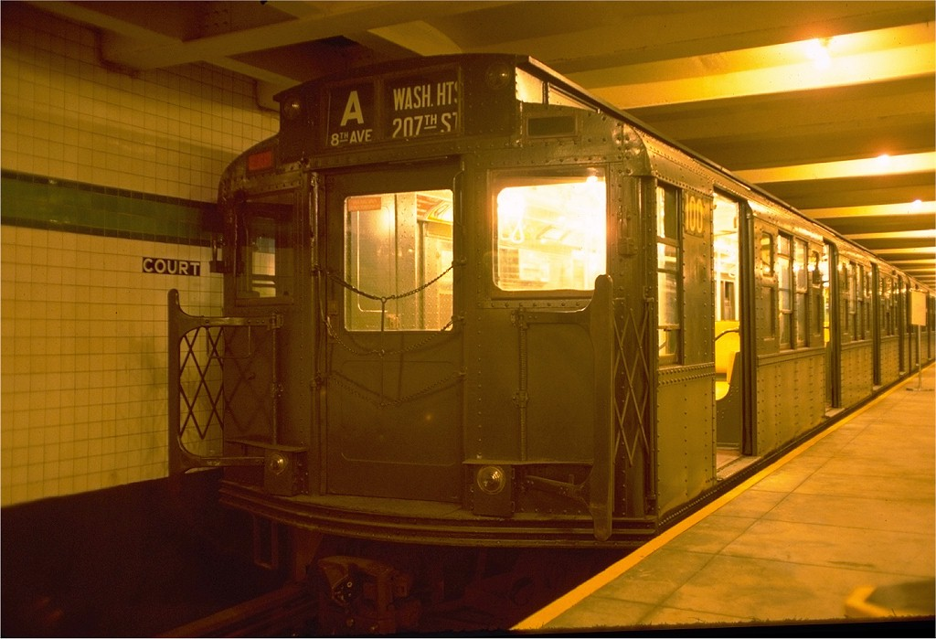 (164k, 1024x699)<br><b>Country:</b> United States<br><b>City:</b> New York<br><b>System:</b> New York City Transit<br><b>Location:</b> New York Transit Museum<br><b>Car:</b> R-1 (American Car & Foundry, 1930-1931) 100 <br><b>Photo by:</b> Joe Testagrose<br><b>Date:</b> 7/31/1976<br><b>Viewed (this week/total):</b> 7 / 8847