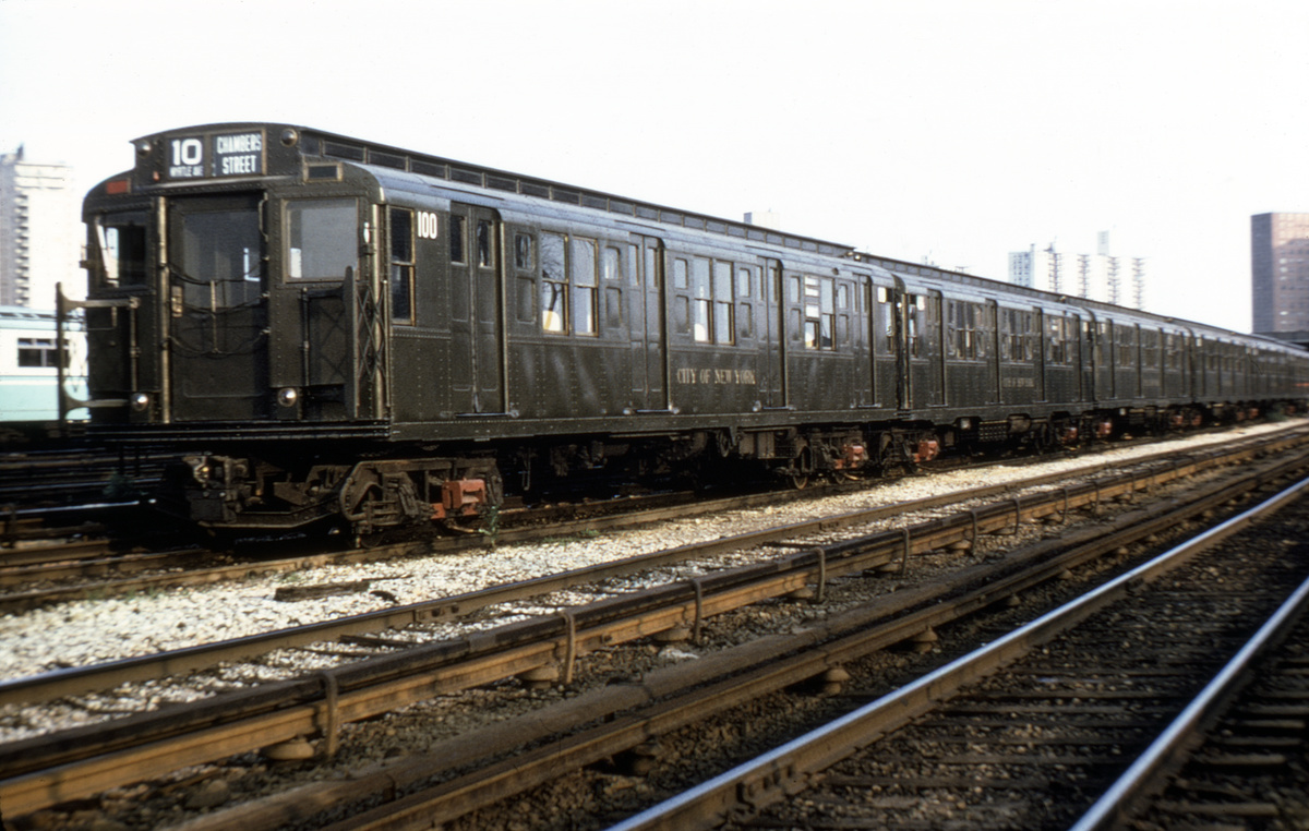 (188k, 1024x660)<br><b>Country:</b> United States<br><b>City:</b> New York<br><b>System:</b> New York City Transit<br><b>Location:</b> Coney Island Yard-Museum Yard<br><b>Car:</b> R-1 (American Car & Foundry, 1930-1931) 100 <br><b>Photo by:</b> Joe Testagrose<br><b>Date:</b> 6/27/1971<br><b>Viewed (this week/total):</b> 3 / 3458