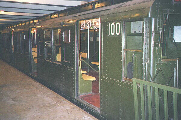 (123k, 600x400)<br><b>Country:</b> United States<br><b>City:</b> New York<br><b>System:</b> New York City Transit<br><b>Location:</b> New York Transit Museum<br><b>Car:</b> R-1 (American Car & Foundry, 1930-1931) 100 <br><b>Photo by:</b> Sidney Keyles<br><b>Date:</b> 5/23/1999<br><b>Viewed (this week/total):</b> 0 / 6015