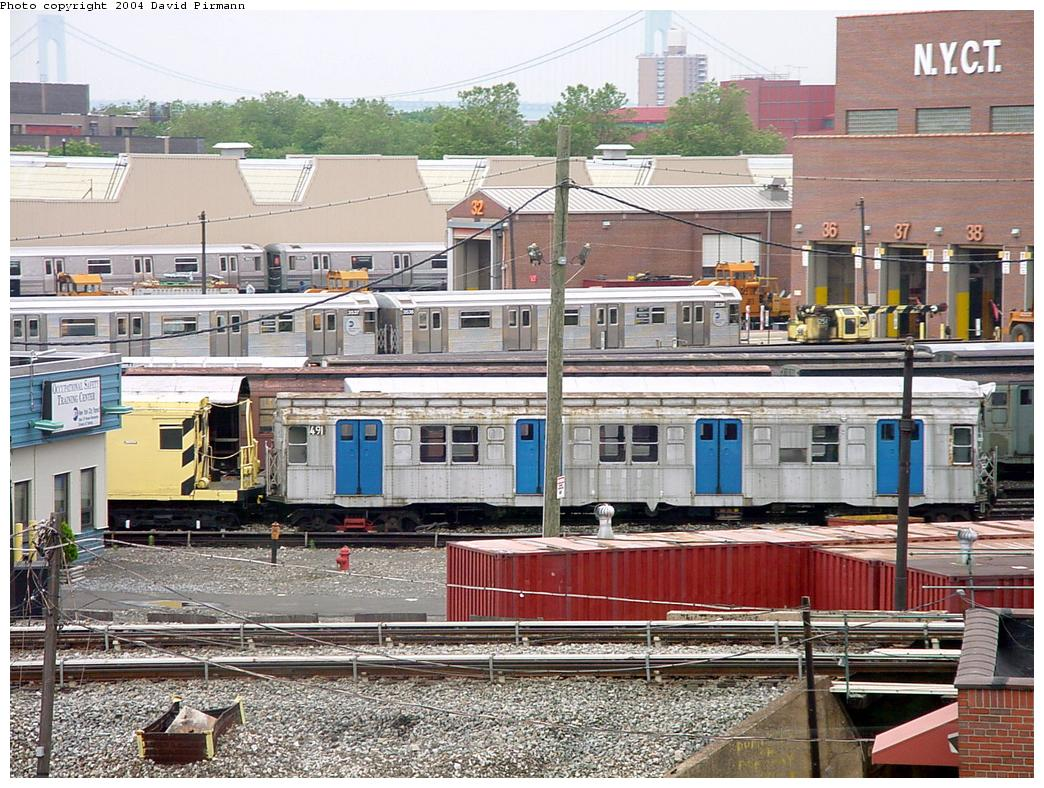 (191k, 1044x788)<br><b>Country:</b> United States<br><b>City:</b> New York<br><b>System:</b> New York City Transit<br><b>Location:</b> Coney Island Yard-Museum Yard<br><b>Car:</b> R-4 (American Car & Foundry, 1932-1933) 491 (ex-401)<br><b>Photo by:</b> David Pirmann<br><b>Date:</b> 6/18/2000<br><b>Viewed (this week/total):</b> 0 / 3401