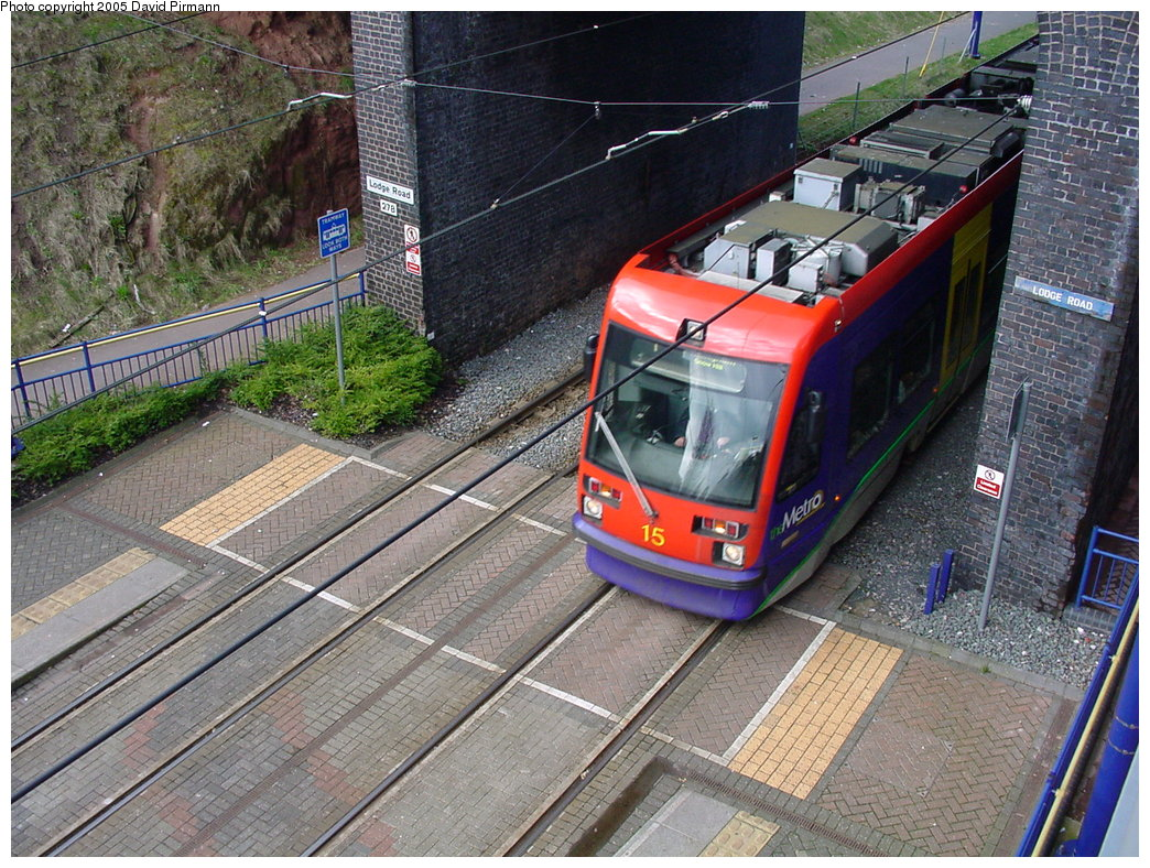 (269k, 1044x788)<br><b>Country:</b> United Kingdom<br><b>City:</b> Birmingham <br><b>System:</b> Midland Metro<br><b>Location:</b> Lodge Road/West Bromwich Town Hall <br><b>Car:</b>  15 <br><b>Photo by:</b> David Pirmann<br><b>Date:</b> 3/29/2001<br><b>Viewed (this week/total):</b> 4 / 1515