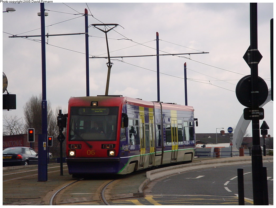 (149k, 1044x788)<br><b>Country:</b> United Kingdom<br><b>City:</b> Birmingham <br><b>System:</b> Midland Metro<br><b>Location:</b> Wolverhampton St. George's <br><b>Car:</b>  06 <br><b>Photo by:</b> David Pirmann<br><b>Date:</b> 3/29/2001<br><b>Viewed (this week/total):</b> 0 / 1210