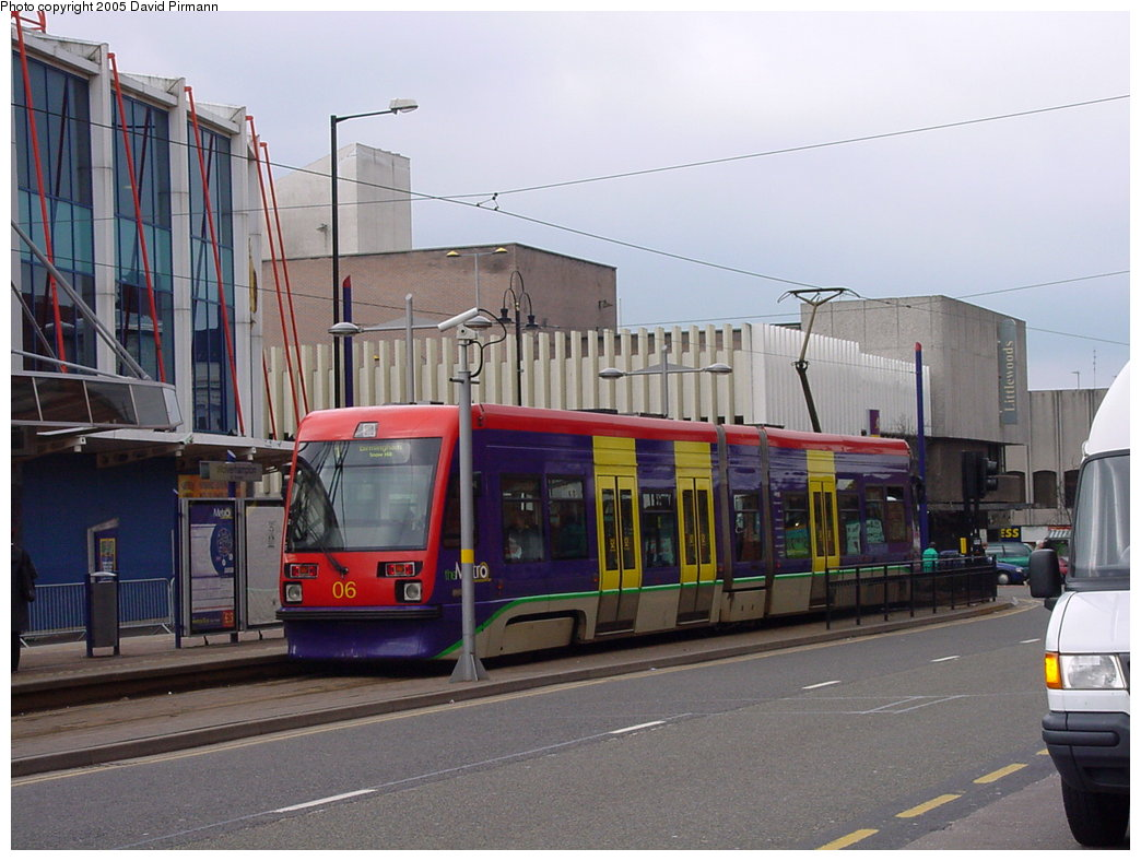 (164k, 1044x788)<br><b>Country:</b> United Kingdom<br><b>City:</b> Birmingham <br><b>System:</b> Midland Metro<br><b>Location:</b> Wolverhampton St. George's <br><b>Car:</b>  06 <br><b>Photo by:</b> David Pirmann<br><b>Date:</b> 3/29/2001<br><b>Viewed (this week/total):</b> 1 / 1371