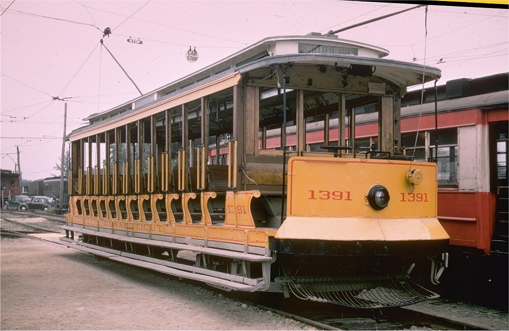 (193k, 1024x666)<br><b>Country:</b> United States<br><b>City:</b> Kennebunk, ME<br><b>System:</b> Seashore Trolley Museum <br><b>Car:</b> Connecticut Company 1391 <br><b>Photo by:</b> Joe Testagrose<br><b>Date:</b> 7/14/1968<br><b>Viewed (this week/total):</b> 1 / 1402