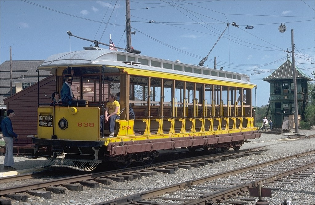 (234k, 1024x667)<br><b>Country:</b> United States<br><b>City:</b> Kennebunk, ME<br><b>System:</b> Seashore Trolley Museum <br><b>Car:</b> Connecticut Company 838 <br><b>Photo by:</b> Doug Grotjahn<br><b>Collection of:</b> Joe Testagrose<br><b>Date:</b> 5/25/1980<br><b>Viewed (this week/total):</b> 0 / 1067
