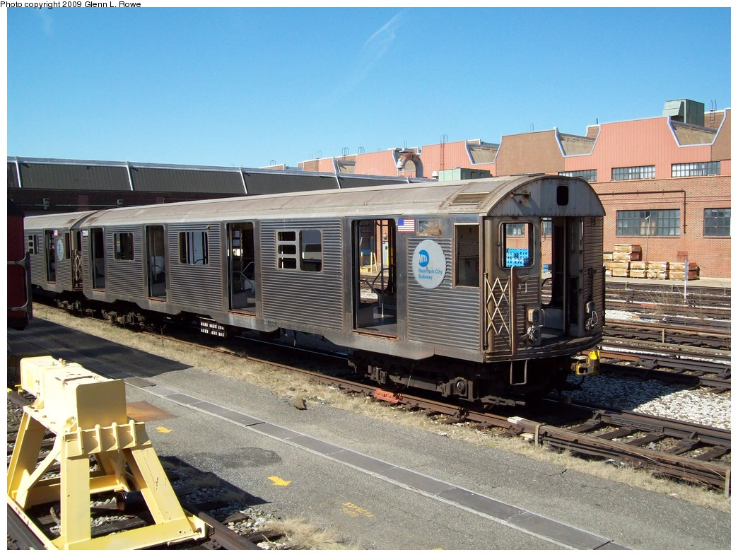 (260k, 1044x788)<br><b>Country:</b> United States<br><b>City:</b> New York<br><b>System:</b> New York City Transit<br><b>Location:</b> 207th Street Yard<br><b>Car:</b> R-32 (Budd, 1964)  3358 <br><b>Photo by:</b> Glenn L. Rowe<br><b>Date:</b> 4/16/2009<br><b>Notes:</b> Scrap<br><b>Viewed (this week/total):</b> 0 / 1104