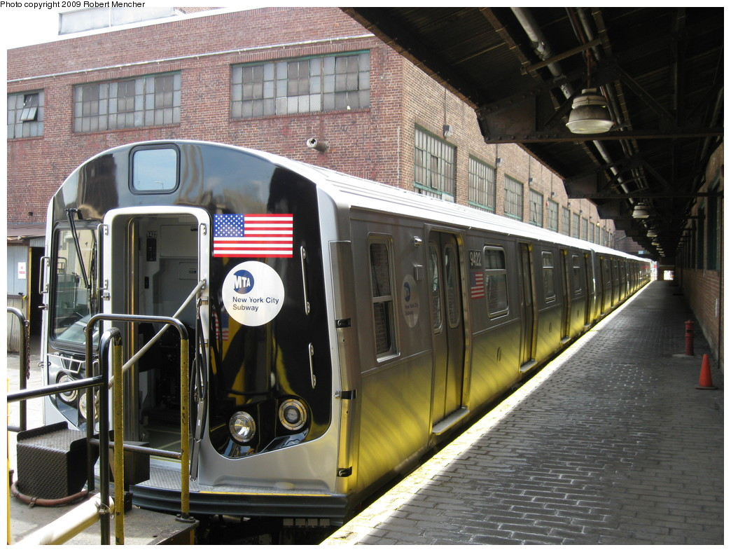 (262k, 1044x788)<br><b>Country:</b> United States<br><b>City:</b> New York<br><b>System:</b> New York City Transit<br><b>Location:</b> 207th Street Yard<br><b>Car:</b> R-160A (Option 1) (Alstom, 2008-2009, 5 car sets)  9422 <br><b>Photo by:</b> Robert Mencher<br><b>Date:</b> 4/18/2009<br><b>Viewed (this week/total):</b> 4 / 1650