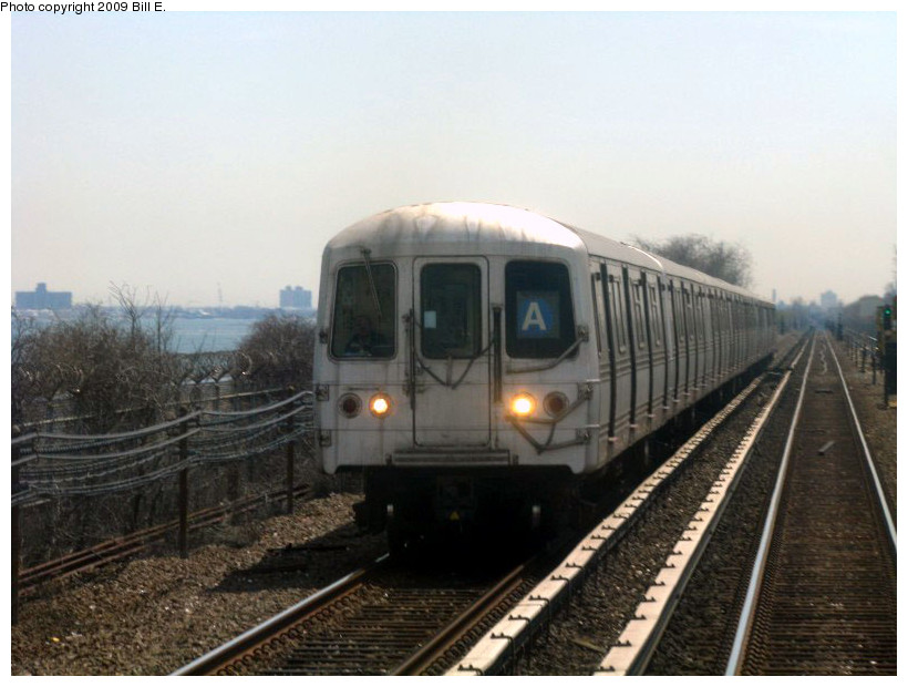 (144k, 820x620)<br><b>Country:</b> United States<br><b>City:</b> New York<br><b>System:</b> New York City Transit<br><b>Line:</b> IND Rockaway<br><b>Location:</b> Near Broad Channel<br><b>Route:</b> A<br><b>Car:</b> R-44 (St. Louis, 1971-73)  <br><b>Photo by:</b> Bill E.<br><b>Date:</b> 4/17/2009<br><b>Viewed (this week/total):</b> 3 / 464