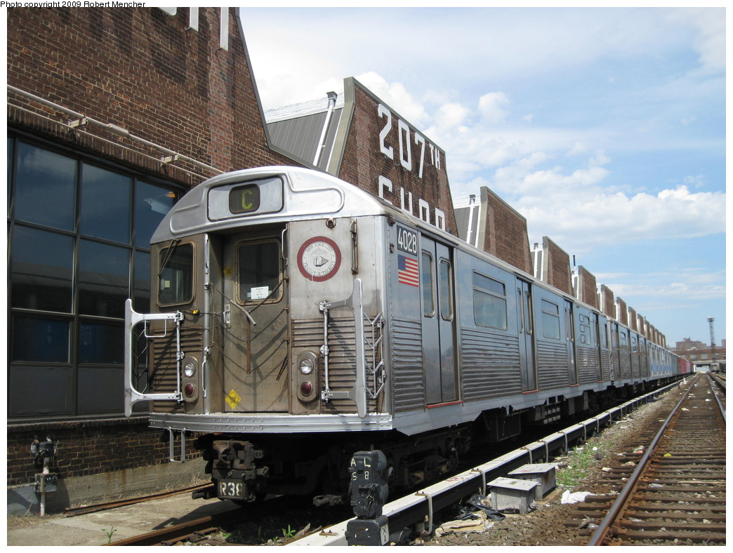 (251k, 1044x788)<br><b>Country:</b> United States<br><b>City:</b> New York<br><b>System:</b> New York City Transit<br><b>Location:</b> 207th Street Yard<br><b>Car:</b> R-38 (St. Louis, 1966-1967)  4028 <br><b>Photo by:</b> Robert Mencher<br><b>Date:</b> 4/18/2009<br><b>Viewed (this week/total):</b> 3 / 1685