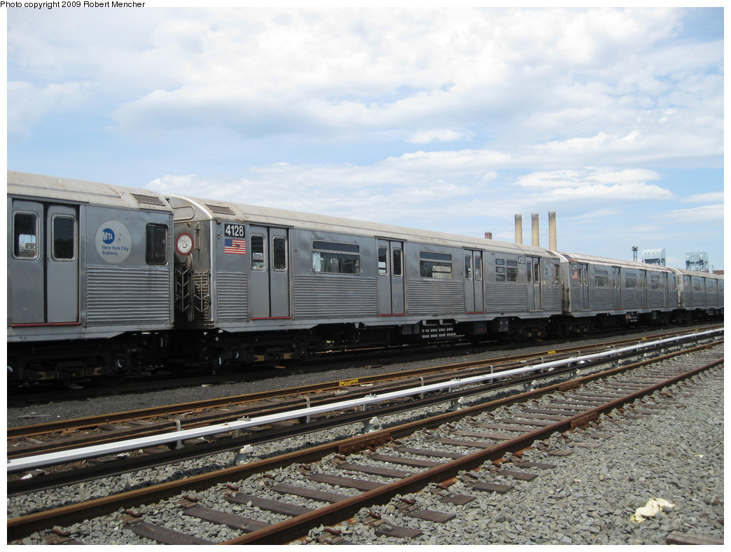 (236k, 1044x788)<br><b>Country:</b> United States<br><b>City:</b> New York<br><b>System:</b> New York City Transit<br><b>Location:</b> 207th Street Yard<br><b>Car:</b> R-38 (St. Louis, 1966-1967)  4128 <br><b>Photo by:</b> Robert Mencher<br><b>Date:</b> 4/18/2009<br><b>Viewed (this week/total):</b> 0 / 418