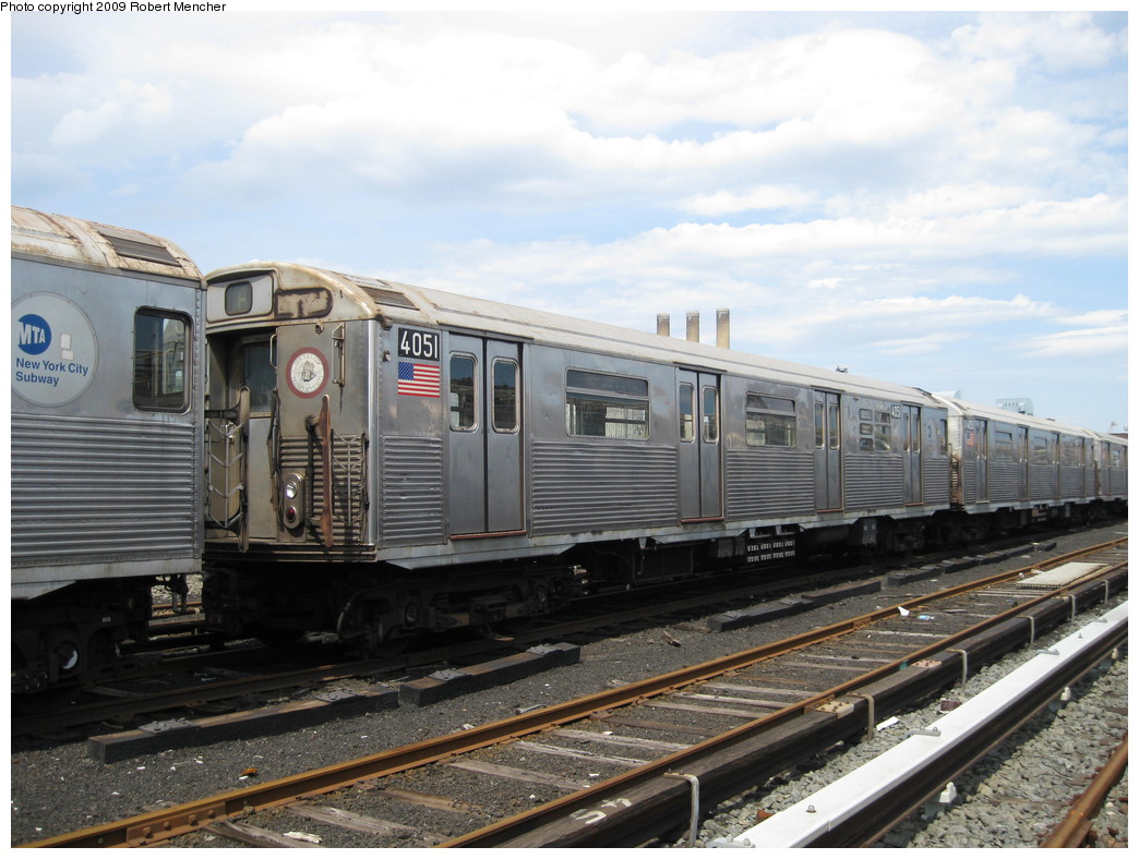 (216k, 1044x788)<br><b>Country:</b> United States<br><b>City:</b> New York<br><b>System:</b> New York City Transit<br><b>Location:</b> 207th Street Yard<br><b>Car:</b> R-38 (St. Louis, 1966-1967)  4051 <br><b>Photo by:</b> Robert Mencher<br><b>Date:</b> 4/18/2009<br><b>Viewed (this week/total):</b> 0 / 652