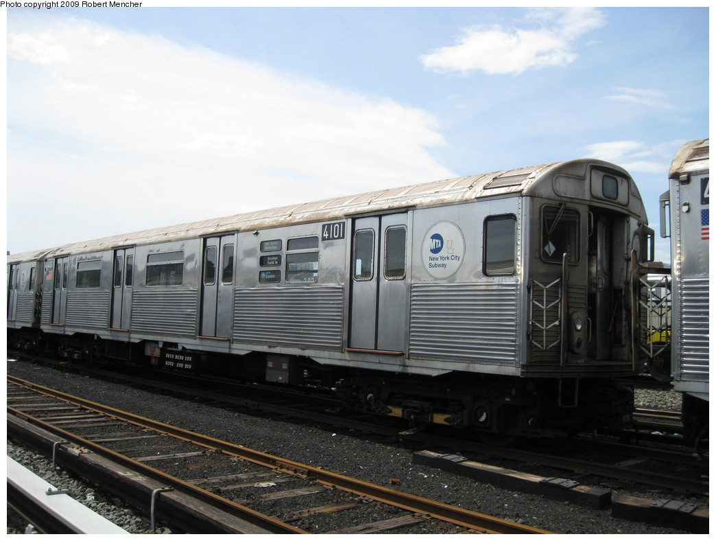 (194k, 1044x788)<br><b>Country:</b> United States<br><b>City:</b> New York<br><b>System:</b> New York City Transit<br><b>Location:</b> 207th Street Yard<br><b>Car:</b> R-38 (St. Louis, 1966-1967)  4101 <br><b>Photo by:</b> Robert Mencher<br><b>Date:</b> 4/18/2009<br><b>Viewed (this week/total):</b> 2 / 448