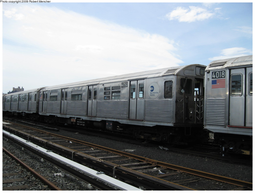 (182k, 1044x788)<br><b>Country:</b> United States<br><b>City:</b> New York<br><b>System:</b> New York City Transit<br><b>Location:</b> 207th Street Yard<br><b>Car:</b> R-38 (St. Louis, 1966-1967)  4050 <br><b>Photo by:</b> Robert Mencher<br><b>Date:</b> 4/18/2009<br><b>Viewed (this week/total):</b> 3 / 483