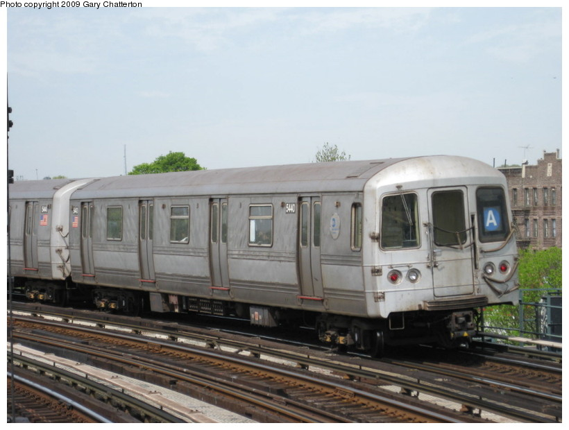 (114k, 820x620)<br><b>Country:</b> United States<br><b>City:</b> New York<br><b>System:</b> New York City Transit<br><b>Line:</b> IND Fulton Street Line<br><b>Location:</b> 80th Street/Hudson Street <br><b>Route:</b> A<br><b>Car:</b> R-44 (St. Louis, 1971-73) 5440 <br><b>Photo by:</b> Gary Chatterton<br><b>Date:</b> 4/29/2009<br><b>Viewed (this week/total):</b> 1 / 626