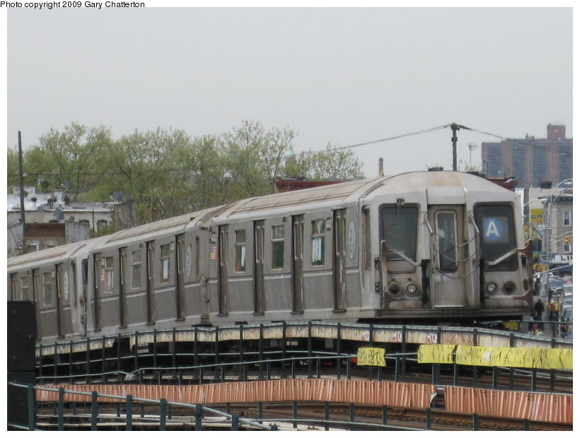 (132k, 820x620)<br><b>Country:</b> United States<br><b>City:</b> New York<br><b>System:</b> New York City Transit<br><b>Line:</b> IND Fulton Street Line<br><b>Location:</b> 80th Street/Hudson Street <br><b>Route:</b> A<br><b>Car:</b> R-40 (St. Louis, 1968)  4342 <br><b>Photo by:</b> Gary Chatterton<br><b>Date:</b> 4/29/2009<br><b>Viewed (this week/total):</b> 0 / 661