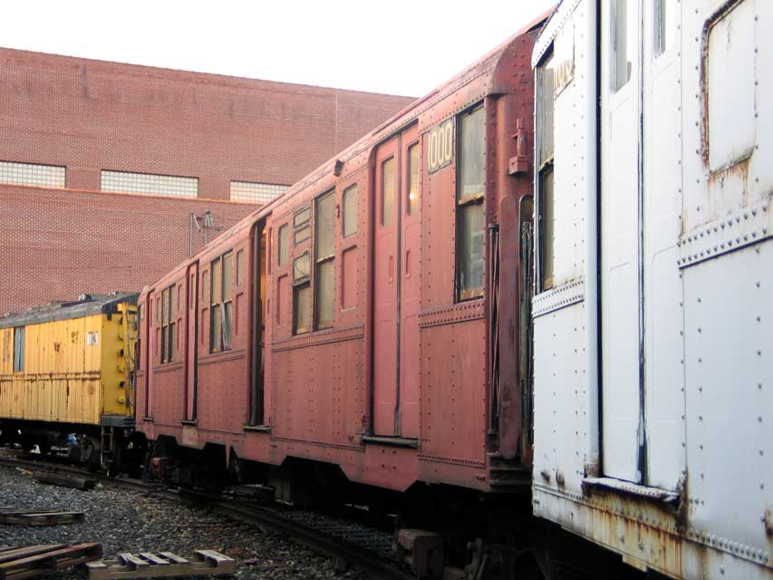 (83k, 853x640)<br><b>Country:</b> United States<br><b>City:</b> New York<br><b>System:</b> New York City Transit<br><b>Location:</b> Coney Island Yard-Museum Yard<br><b>Car:</b> R-6-3 (American Car & Foundry, 1935)  1000 <br><b>Photo by:</b> Michael Pompili<br><b>Date:</b> 6/29/2004<br><b>Viewed (this week/total):</b> 2 / 560