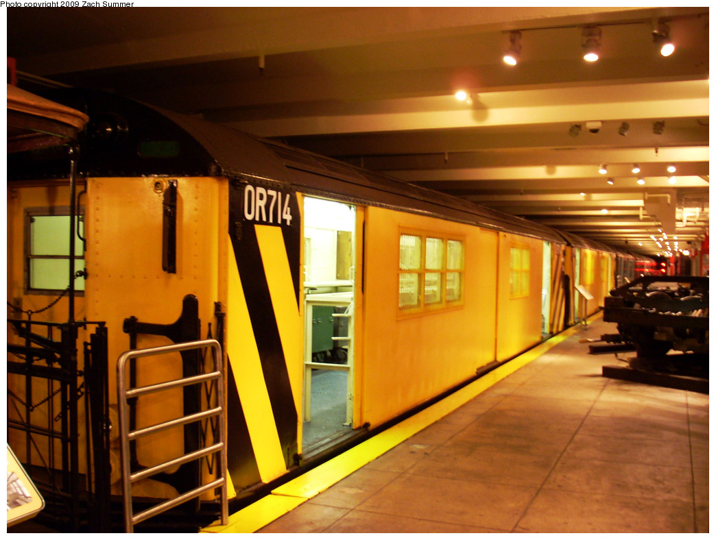 (262k, 1044x788)<br><b>Country:</b> United States<br><b>City:</b> New York<br><b>System:</b> New York City Transit<br><b>Location:</b> New York Transit Museum<br><b>Car:</b> R-95 Revenue Collector 0R714 (ex-7194)<br><b>Photo by:</b> Zach Summer<br><b>Date:</b> 7/22/2008<br><b>Viewed (this week/total):</b> 1 / 1385