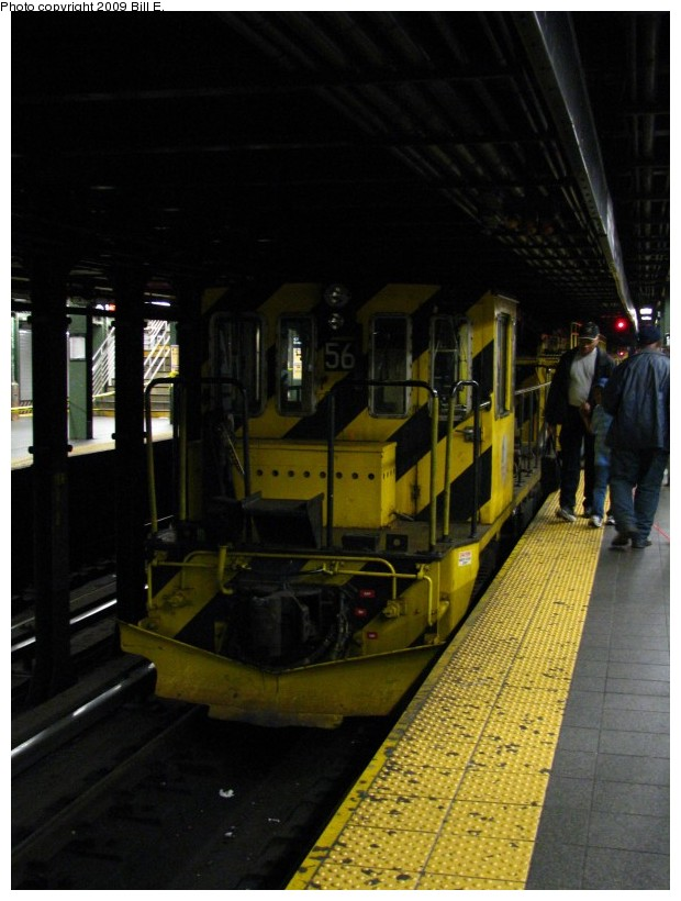 (119k, 620x820)<br><b>Country:</b> United States<br><b>City:</b> New York<br><b>System:</b> New York City Transit<br><b>Line:</b> IRT West Side Line<br><b>Location:</b> Times Square/42nd Street <br><b>Route:</b> Work Service<br><b>Car:</b> R-41 Locomotive  56 <br><b>Photo by:</b> Bill E.<br><b>Date:</b> 5/9/2009<br><b>Viewed (this week/total):</b> 0 / 559