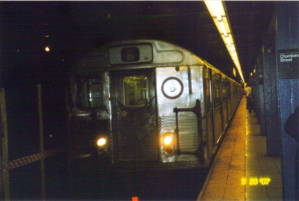 (126k, 1024x688)<br><b>Country:</b> United States<br><b>City:</b> New York<br><b>System:</b> New York City Transit<br><b>Line:</b> IND 8th Avenue Line<br><b>Location:</b> Chambers Street/World Trade Center <br><b>Route:</b> A<br><b>Car:</b> R-38 (St. Louis, 1966-1967)   <br><b>Photo by:</b> Jose Lauzardo<br><b>Date:</b> 6/24/2007<br><b>Viewed (this week/total):</b> 7 / 906
