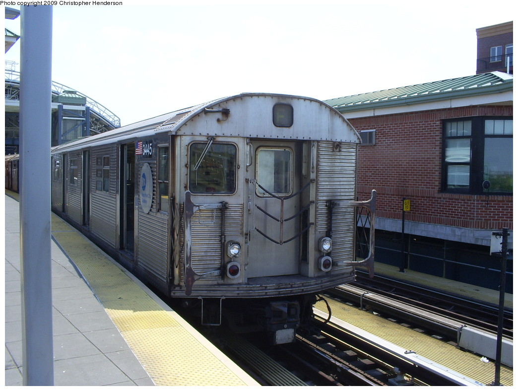 (257k, 1044x788)<br><b>Country:</b> United States<br><b>City:</b> New York<br><b>System:</b> New York City Transit<br><b>Location:</b> Coney Island/Stillwell Avenue<br><b>Route:</b> F<br><b>Car:</b> R-32 (Budd, 1964)  3445 <br><b>Photo by:</b> Christopher Henderson<br><b>Date:</b> 5/22/2009<br><b>Viewed (this week/total):</b> 3 / 847