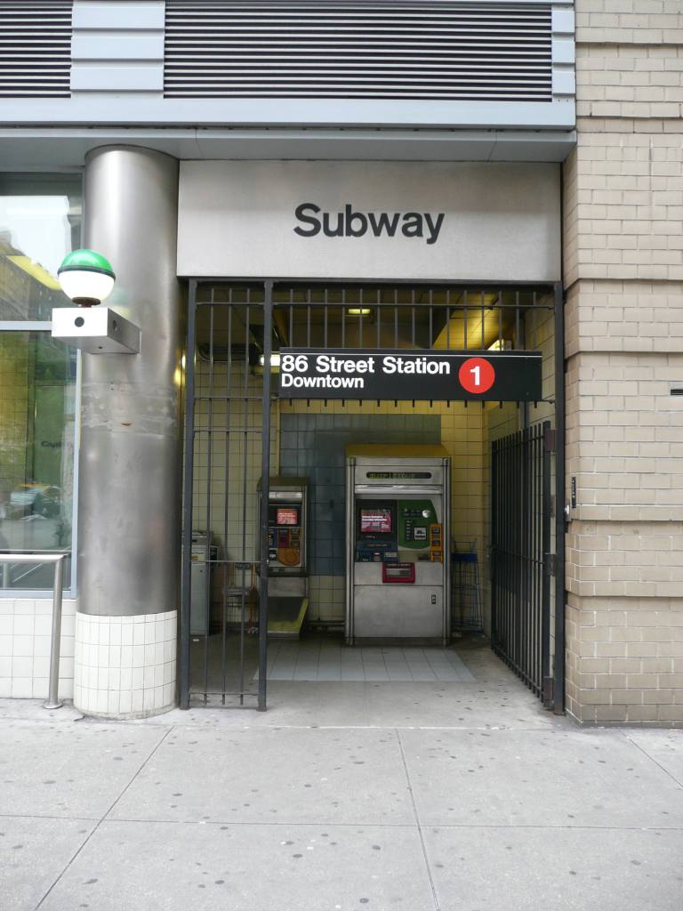 (104k, 768x1024)<br><b>Country:</b> United States<br><b>City:</b> New York<br><b>System:</b> New York City Transit<br><b>Line:</b> IRT West Side Line<br><b>Location:</b> 86th Street <br><b>Photo by:</b> Robbie Rosenfeld<br><b>Date:</b> 6/4/2009<br><b>Notes:</b> Station entrance.<br><b>Viewed (this week/total):</b> 0 / 1238