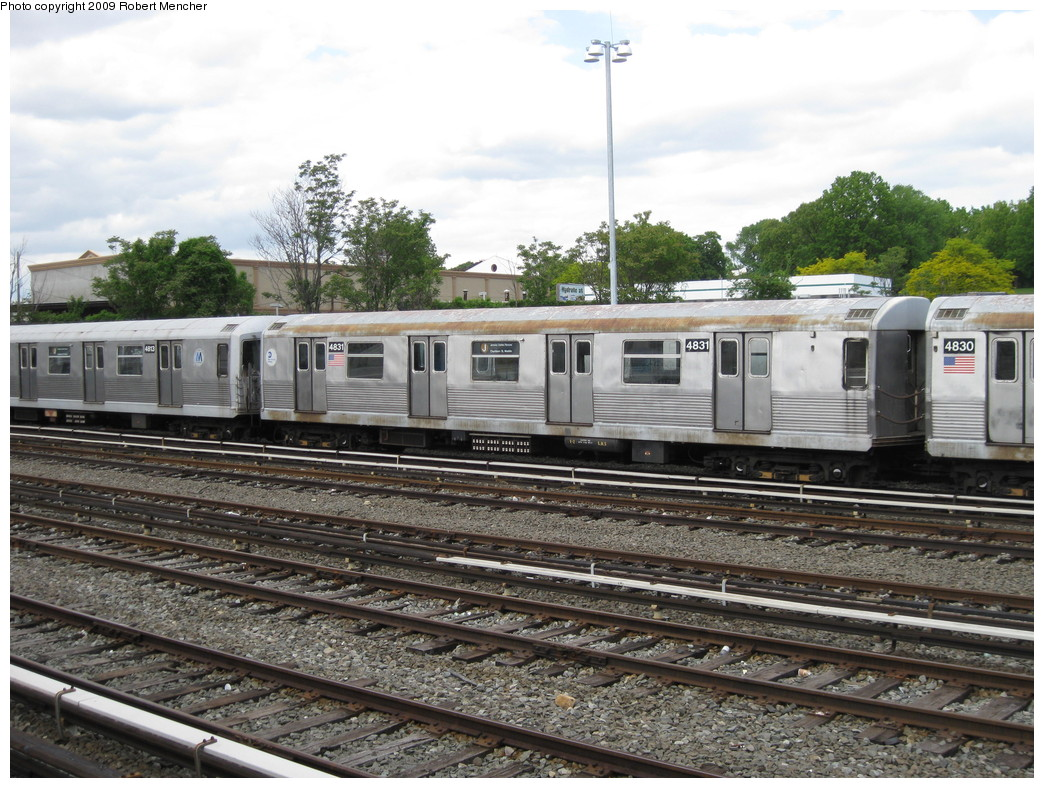 (261k, 1044x788)<br><b>Country:</b> United States<br><b>City:</b> New York<br><b>System:</b> New York City Transit<br><b>Location:</b> East New York Yard/Shops<br><b>Car:</b> R-42 (St. Louis, 1969-1970)  4831 <br><b>Photo by:</b> Robert Mencher<br><b>Date:</b> 5/18/2009<br><b>Viewed (this week/total):</b> 0 / 385