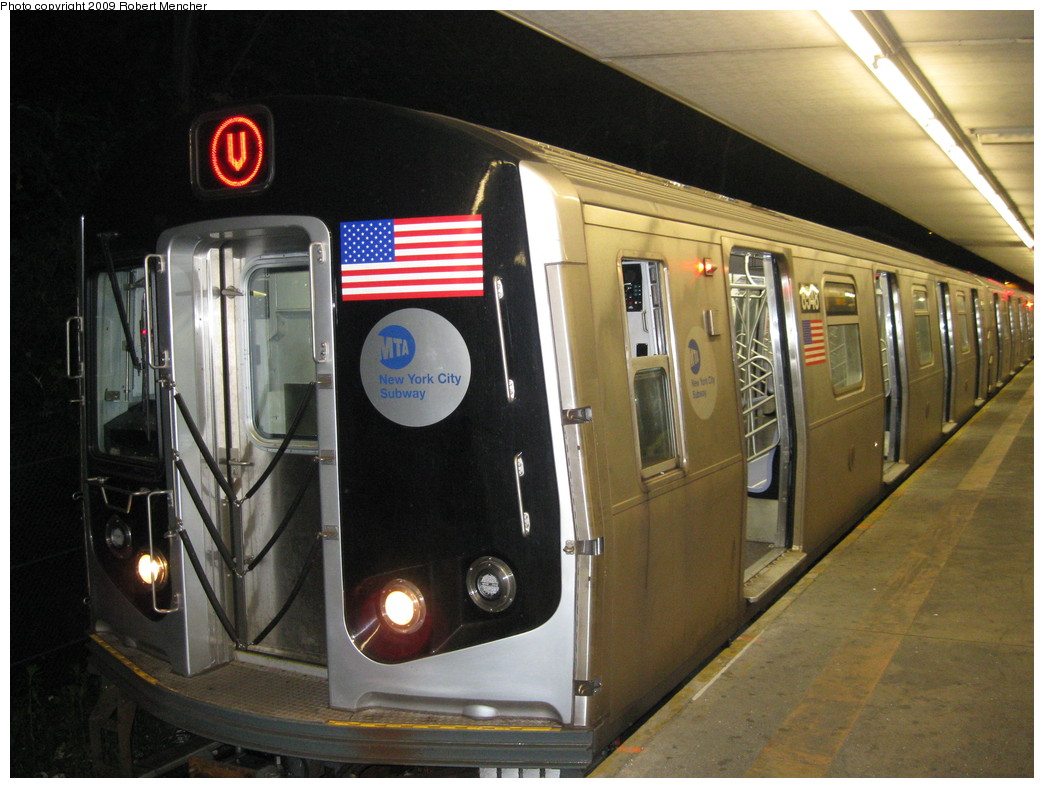 (222k, 1044x788)<br><b>Country:</b> United States<br><b>City:</b> New York<br><b>System:</b> New York City Transit<br><b>Line:</b> BMT Myrtle Avenue Line<br><b>Location:</b> Metropolitan Avenue <br><b>Route:</b> M-wrong sign<br><b>Car:</b> R-160A-1 (Alstom, 2005-2008, 4 car sets)  8548 <br><b>Photo by:</b> Robert Mencher<br><b>Date:</b> 5/25/2009<br><b>Viewed (this week/total):</b> 5 / 1585