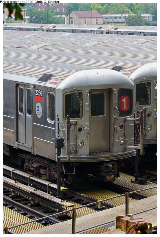 (186k, 554x819)<br><b>Country:</b> United States<br><b>City:</b> New York<br><b>System:</b> New York City Transit<br><b>Location:</b> 240th Street Yard<br><b>Car:</b> R-62A (Bombardier, 1984-1987)  2236 <br><b>Photo by:</b> Chris C. Shaffer<br><b>Date:</b> 8/2/2008<br><b>Viewed (this week/total):</b> 1 / 1118