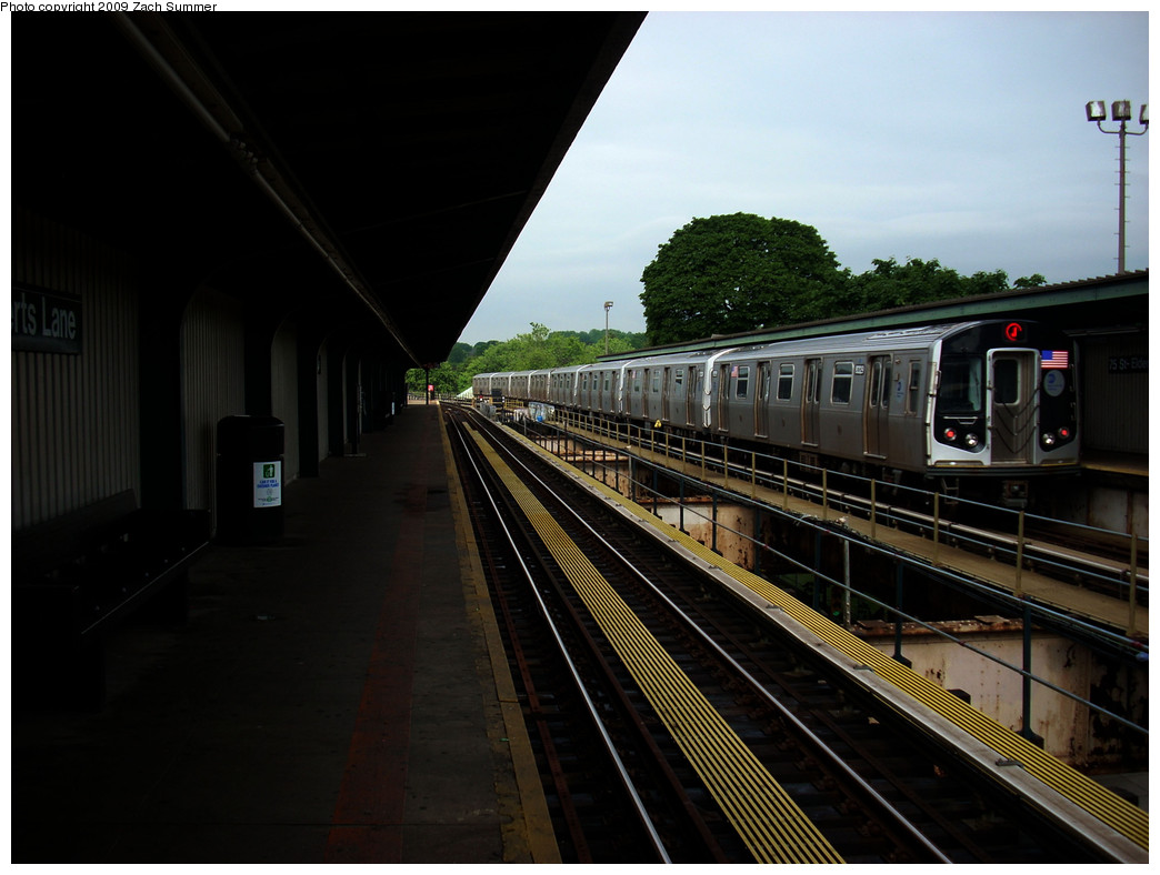 (215k, 1044x788)<br><b>Country:</b> United States<br><b>City:</b> New York<br><b>System:</b> New York City Transit<br><b>Line:</b> BMT Nassau Street/Jamaica Line<br><b>Location:</b> 75th Street/Elderts Lane <br><b>Route:</b> J<br><b>Car:</b> R-160A-1 (Alstom, 2005-2008, 4 car sets)  8329 <br><b>Photo by:</b> Zach Summer<br><b>Date:</b> 6/6/2009<br><b>Viewed (this week/total):</b> 0 / 1148