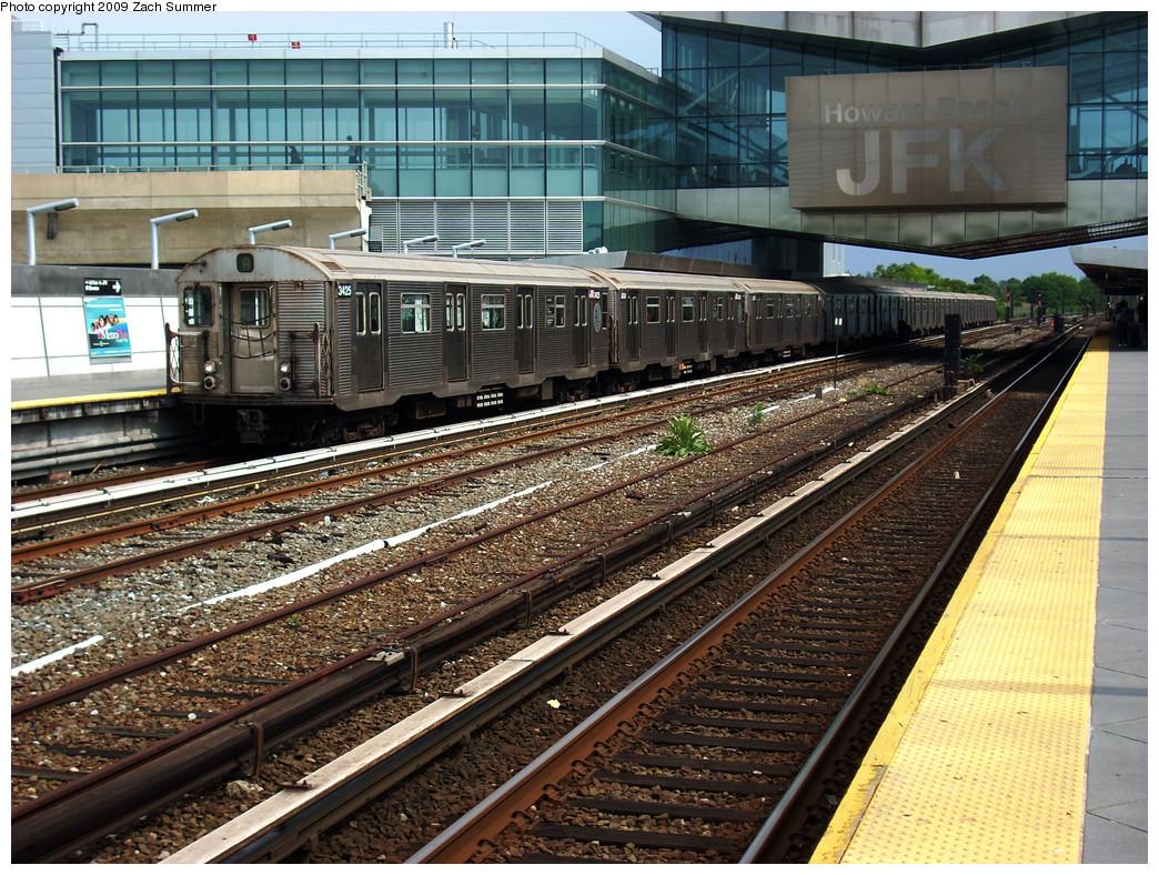 (393k, 1044x788)<br><b>Country:</b> United States<br><b>City:</b> New York<br><b>System:</b> New York City Transit<br><b>Line:</b> IND Rockaway<br><b>Location:</b> Howard Beach <br><b>Route:</b> A<br><b>Car:</b> R-32 (Budd, 1964)  3425 <br><b>Photo by:</b> Zach Summer<br><b>Date:</b> 6/8/2009<br><b>Viewed (this week/total):</b> 2 / 1399