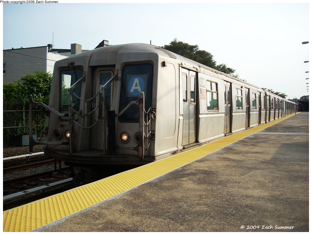 (274k, 1044x788)<br><b>Country:</b> United States<br><b>City:</b> New York<br><b>System:</b> New York City Transit<br><b>Line:</b> IND Rockaway<br><b>Location:</b> Rockaway Park/Beach 116th Street <br><b>Route:</b> A<br><b>Car:</b> R-40 (St. Louis, 1968)  4356 <br><b>Photo by:</b> Zach Summer<br><b>Date:</b> 6/8/2009<br><b>Viewed (this week/total):</b> 0 / 710
