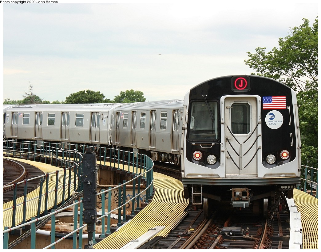(280k, 1044x822)<br><b>Country:</b> United States<br><b>City:</b> New York<br><b>System:</b> New York City Transit<br><b>Line:</b> BMT Nassau Street/Jamaica Line<br><b>Location:</b> Cypress Hills <br><b>Route:</b> J<br><b>Car:</b> R-160A-1 (Alstom, 2005-2008, 4 car sets)  8505 <br><b>Photo by:</b> John Barnes<br><b>Date:</b> 6/22/2009<br><b>Viewed (this week/total):</b> 0 / 621