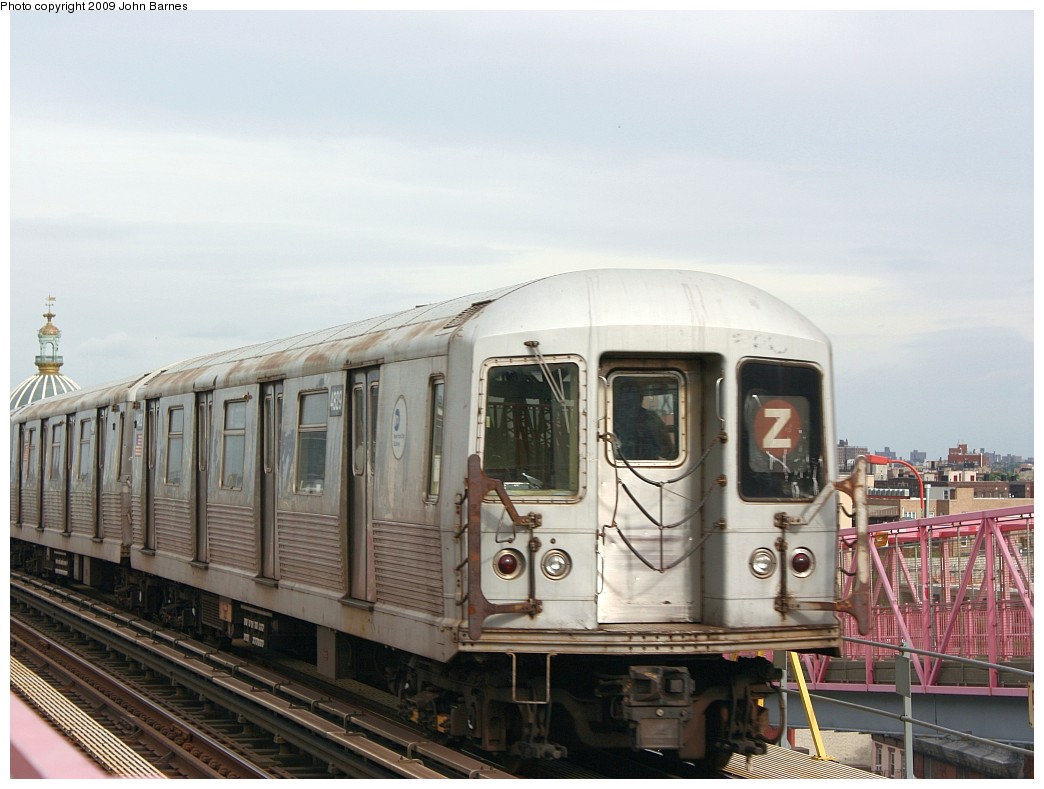 (183k, 1044x789)<br><b>Country:</b> United States<br><b>City:</b> New York<br><b>System:</b> New York City Transit<br><b>Line:</b> BMT Nassau Street/Jamaica Line<br><b>Location:</b> Williamsburg Bridge<br><b>Route:</b> Z<br><b>Car:</b> R-42 (St. Louis, 1969-1970)  4829 <br><b>Photo by:</b> John Barnes<br><b>Date:</b> 6/22/2009<br><b>Viewed (this week/total):</b> 3 / 894