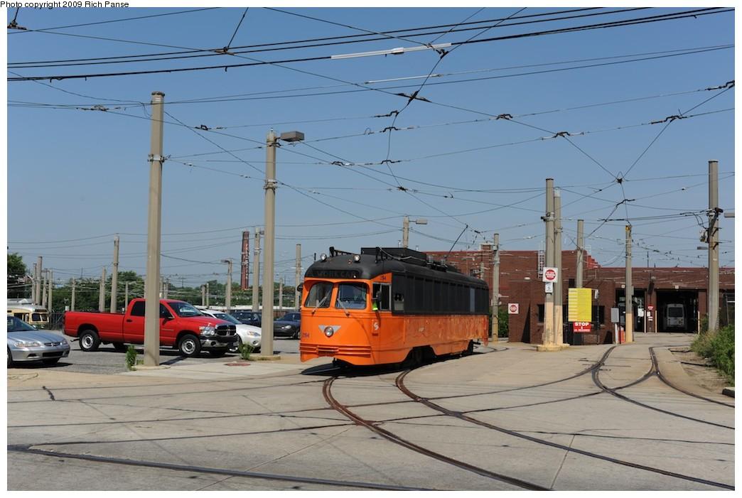 (169k, 1044x701)<br><b>Country:</b> United States<br><b>City:</b> Philadelphia, PA<br><b>System:</b> SEPTA (or Predecessor)<br><b>Location:</b> Elmwood Depot <br><b>Car:</b> PTC/SEPTA Postwar All-electric PCC (St.Louis, 1948)  2194 <br><b>Photo by:</b> Richard Panse<br><b>Date:</b> 6/7/2009<br><b>Viewed (this week/total):</b> 0 / 527