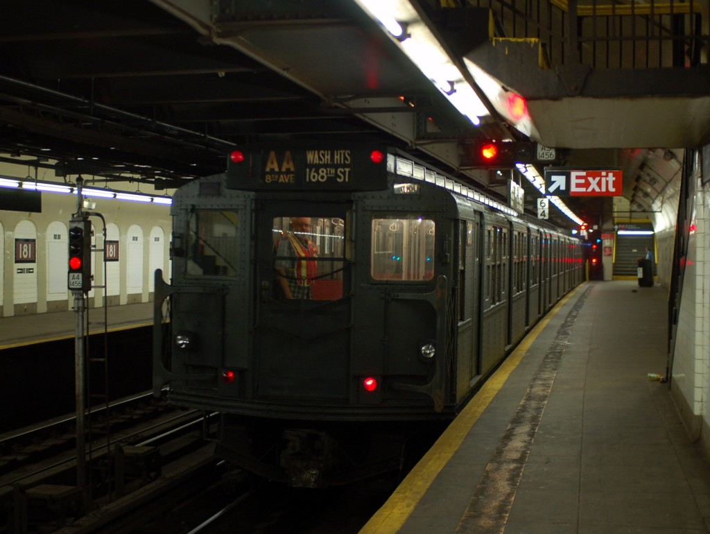 (203k, 1024x770)<br><b>Country:</b> United States<br><b>City:</b> New York<br><b>System:</b> New York City Transit<br><b>Line:</b> IND 8th Avenue Line<br><b>Location:</b> 181st Street <br><b>Route:</b> Fan Trip<br><b>Car:</b> R-6-1 (Pressed Steel, 1936)  1300 <br><b>Photo by:</b> Brian Weinberg<br><b>Date:</b> 8/2/2009<br><b>Viewed (this week/total):</b> 2 / 982