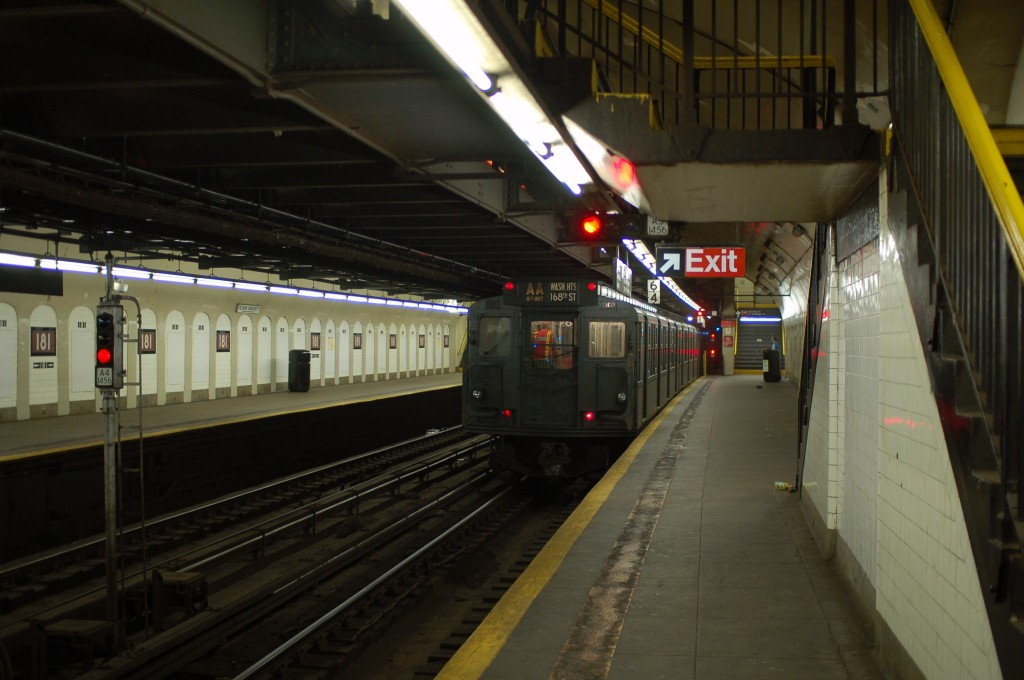 (202k, 1024x680)<br><b>Country:</b> United States<br><b>City:</b> New York<br><b>System:</b> New York City Transit<br><b>Line:</b> IND 8th Avenue Line<br><b>Location:</b> 181st Street <br><b>Route:</b> Fan Trip<br><b>Car:</b> R-6-1 (Pressed Steel, 1936)  1300 <br><b>Photo by:</b> Brian Weinberg<br><b>Date:</b> 8/2/2009<br><b>Viewed (this week/total):</b> 6 / 696
