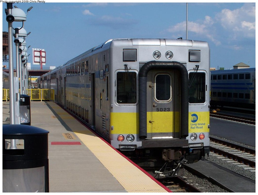 (204k, 1044x788)<br><b>Country:</b> United States<br><b>City:</b> New York<br><b>System:</b> Long Island Rail Road<br><b>Line:</b> LIRR Long Island City<br><b>Location:</b> Long Island City <br><b>Car:</b> LIRR Kawasaki C-3/C-R (Bilevel Coach/Cab) 5011 <br><b>Photo by:</b> Chris Reidy<br><b>Date:</b> 7/13/2009<br><b>Viewed (this week/total):</b> 0 / 567