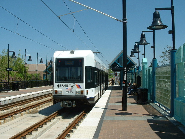 (144k, 640x480)<br><b>Country:</b> United States<br><b>City:</b> Bayonne, NJ<br><b>System:</b> Hudson Bergen Light Rail<br><b>Location:</b> East 22nd Street <br><b>Car:</b> NJT-HBLR LRV (Kinki-Sharyo, 1998-99)  2028 <br><b>Photo by:</b> Brian J. Cudahy<br><b>Date:</b> 5/4/2004<br><b>Viewed (this week/total):</b> 1 / 164